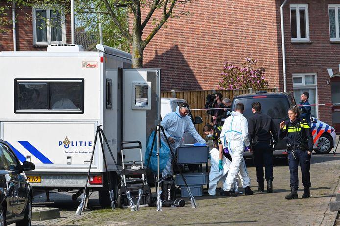 Politieonderzoek op de Sparrenweg, dinsdagavond.