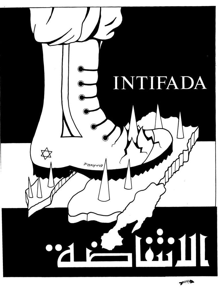 Een poster van Ayman Bardawil uit 1990. Beeld Wikimedia