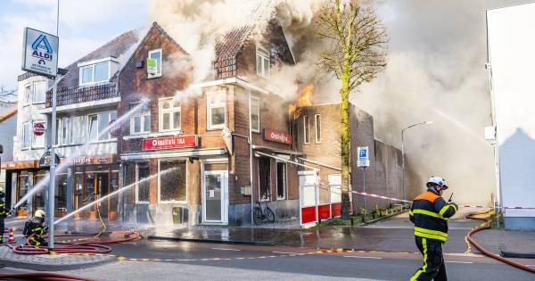 Zeer grote brand bij Kwalitaria Tra in Goirle: drone ingezet om overzicht te krijgen - BD.nl