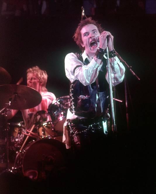 John Lydon als Johnny Rotten in de tijd van de Sex Pistols.
