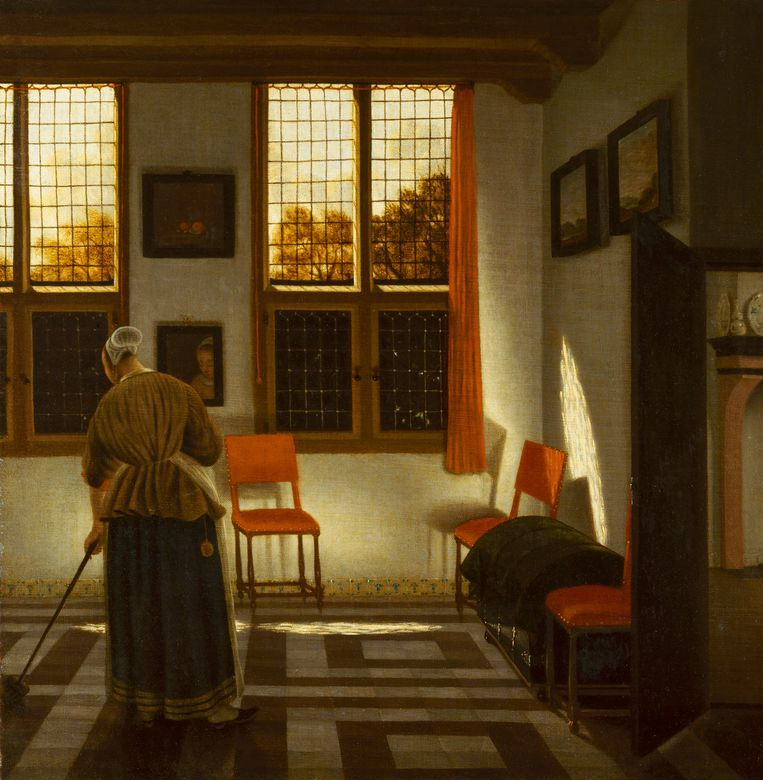 Pieter Janssens Elinga, Huiskamer (omstreeks 1665-'75) Beeld © State Hermitage Museum, St Petersburg