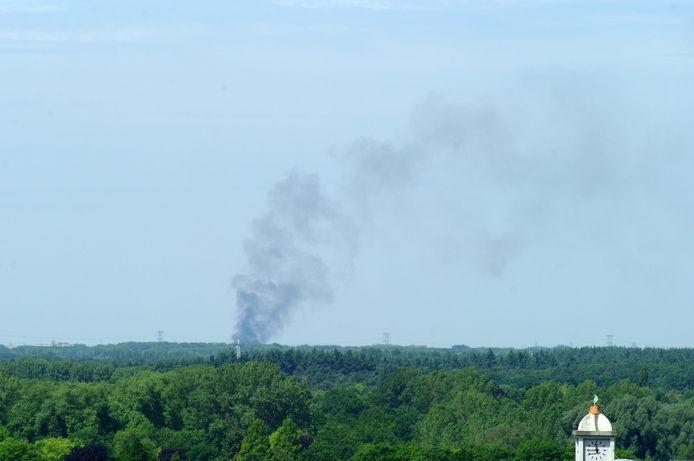 De brand was vanuit Helmond te zien.