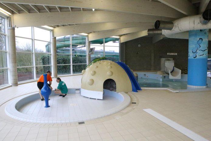 Het kinderbad zal dankzij een investering van 121.000 euro drie keer groter worden.
