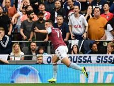 Kane en topaankoop Ndombele redden Spurs tegen Aston Villa van El Ghazi