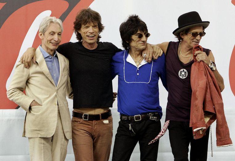 The Rolling Stones in 2005. Beeld AFP