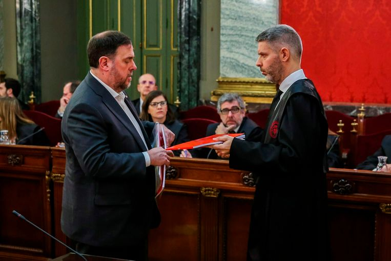 Junqueras met zijn advocaat.