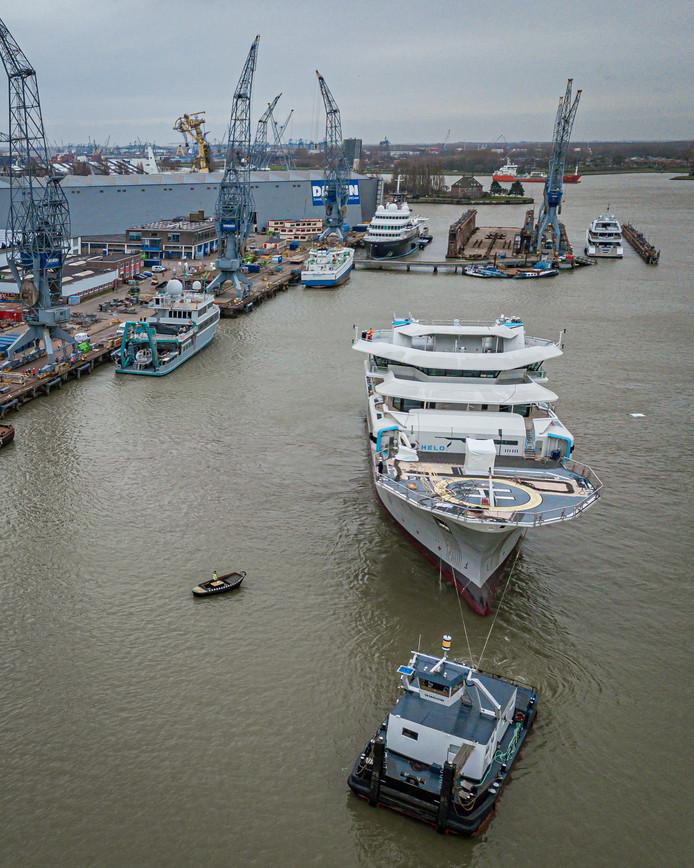 De OceanXplorer in Rotterdam.