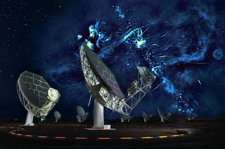 Rondom het centrum van onze Melkweg spotte de MeerKAT-telescoop twee reusachtige 'bubbels'. Iets waar het zwart gat verantwoordelijk voor zou zijn.