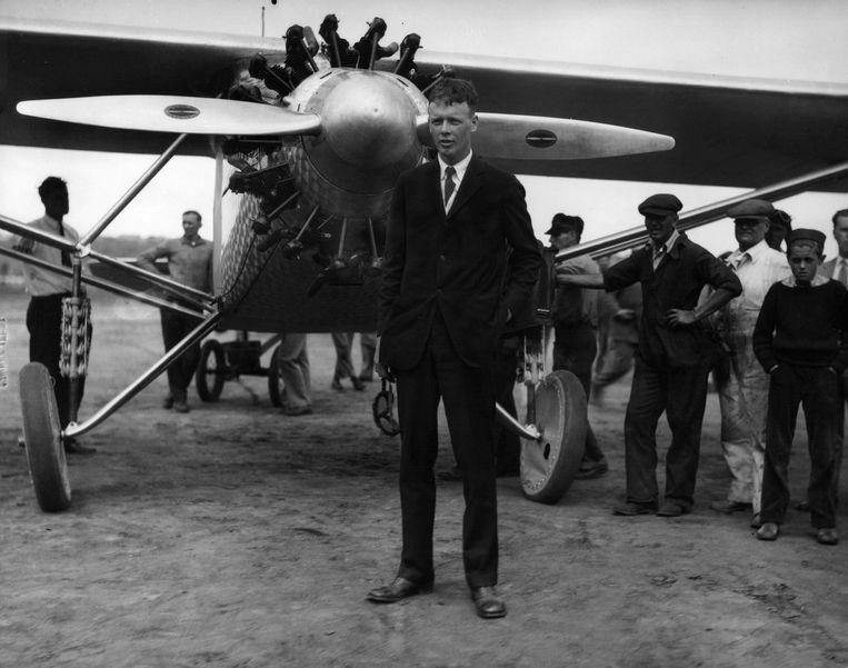 Luchtvaartpionier Charles Lindbergh was mascotte van 'America First'. Hij verloor veel steun toen hij zich openlijk als antisemiet presenteerde.  Beeld ap