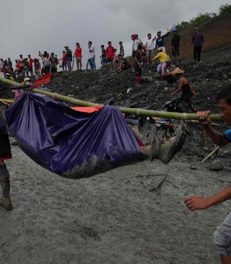 Meer dan 160 doden bij mijnramp door moddergolf in Myanmar