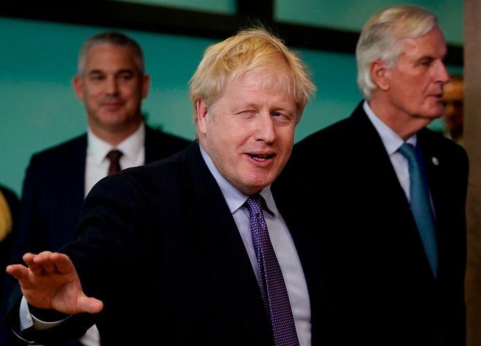 Boris Johnson et Michel Barnier ( à droite), en octobre 2019.