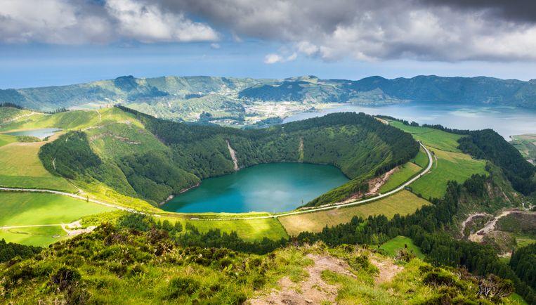 Het wondermooie meer van Sete Cidades