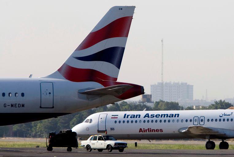 Er waren 66 mensen aan boord van het toestel van luchtvaartmaatschappij Iran Aseman Airlines. Beeld REUTERS