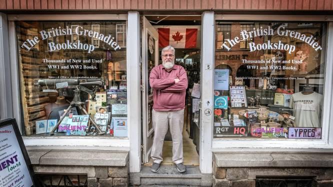 Iepers monument dreigt de deuren te moeten sluiten: The British Grenadier Bookshop ziet inkomsten wegvallen door wegblijven toeristen