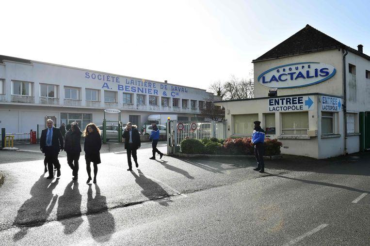 Werknemers bij het hoofdkantoor van de Lactalis Group in Laval, in het noordwesten van Frankrijk.