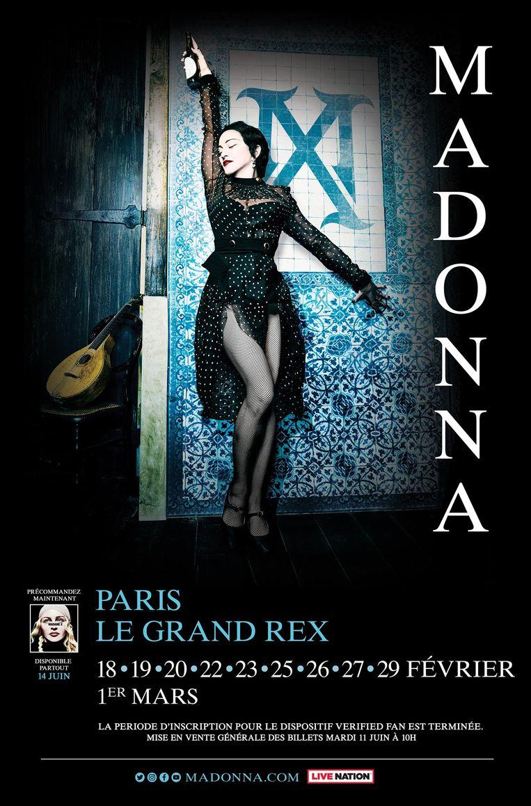 Affiche van de Madame X tour Beeld Madonna