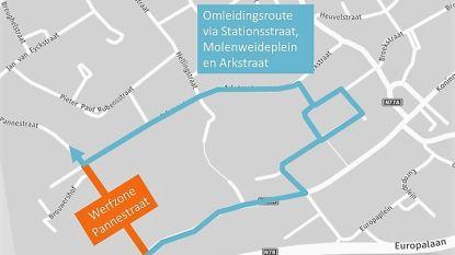 Pannestraat deels afgesloten voor doorgaand verkeer