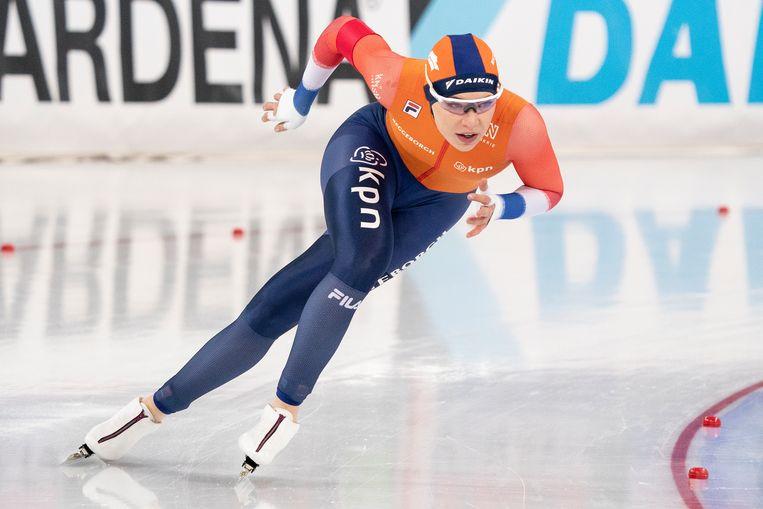 Jutta Leerdam op de 500 meter sprint begin dit jaar.  Beeld BSR Agency