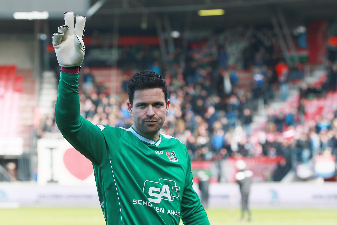 Dennis Gentenaar in zijn laatste seizoen bij NEC.