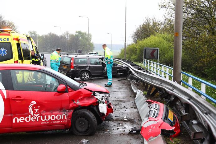 Ongeval op A28 bij Hattemerbroek
