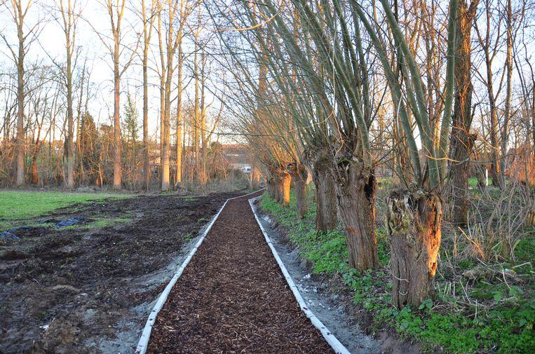 De nieuwe Finse piste in het Broekpark in Welle nabij de nieuwe jeugdlokalen, is klaar.
