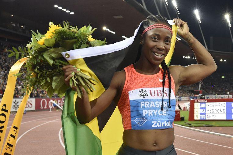 De Jamaicaanse Shelly-Ann Fraser-Pryce. Beeld AFP