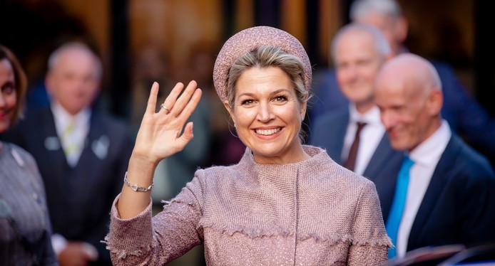 Koningin Máxima bracht vanmorgen een werkbezoek aan het Oranje Fonds in Utrecht.