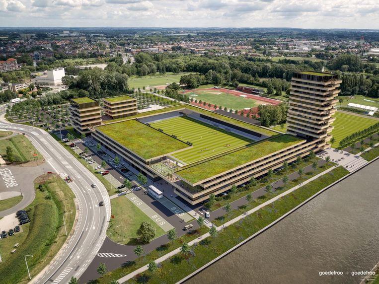 Het toekomstige stadion van SK Deinze.