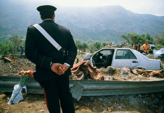 Een autobom van meer dan 500 kilo maakte op 23 mei 1992 een einde aan het leven van Giovanni Falcone.