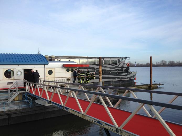 De boot waarop donderdagochtend koningin Máxima meevaart.