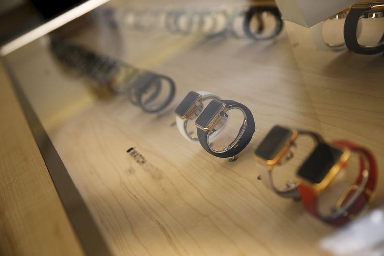 Winkel in San Francisco waar Apple Watches verkrijgbaar zijn. Beeld reuters