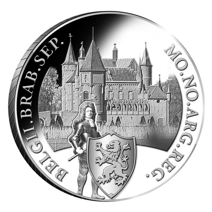De zilveren dukaat met daarop Kasteel Heeswijk.