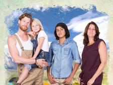 Helemaal het einde-familie Van Kooij reist naar Oosterhout