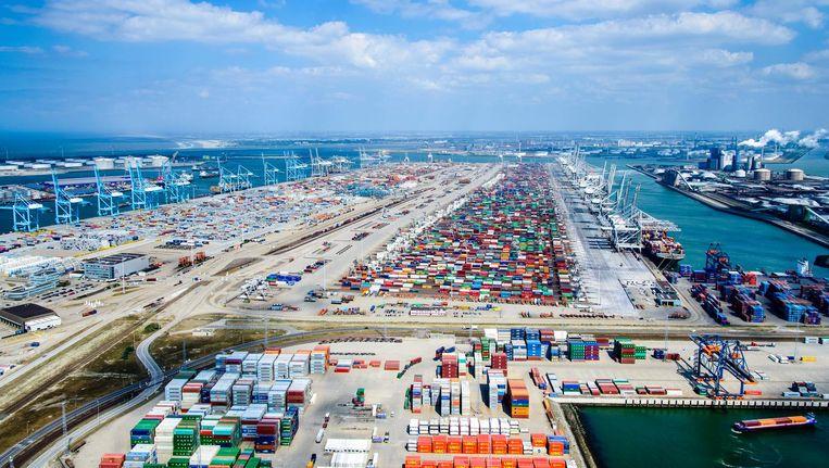 Het Rotterdamse havengebied. Beeld Hollandse Hoogte