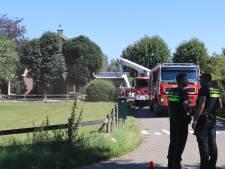 Forse schade bij zolderbrand in woonboerderij Overberg