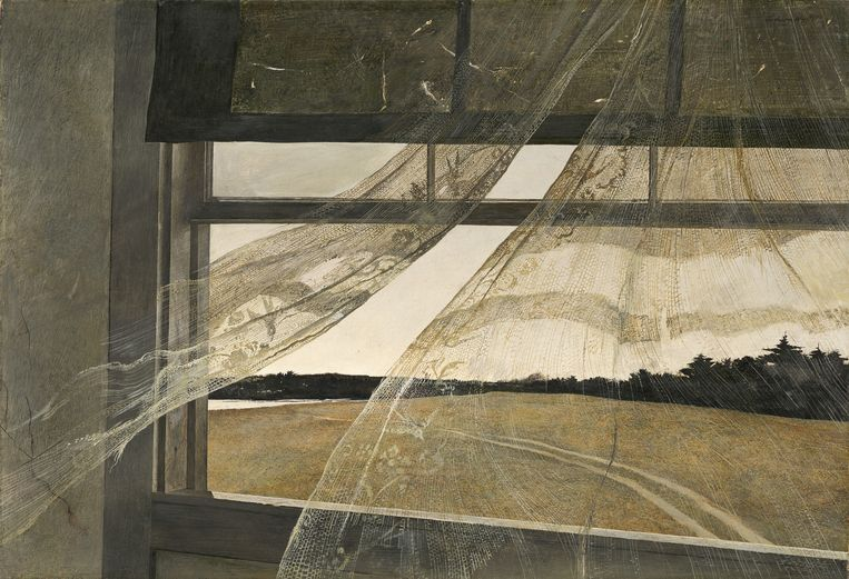 Andrew Wyeth, Wind from the Sea, 1947. Beeld -
