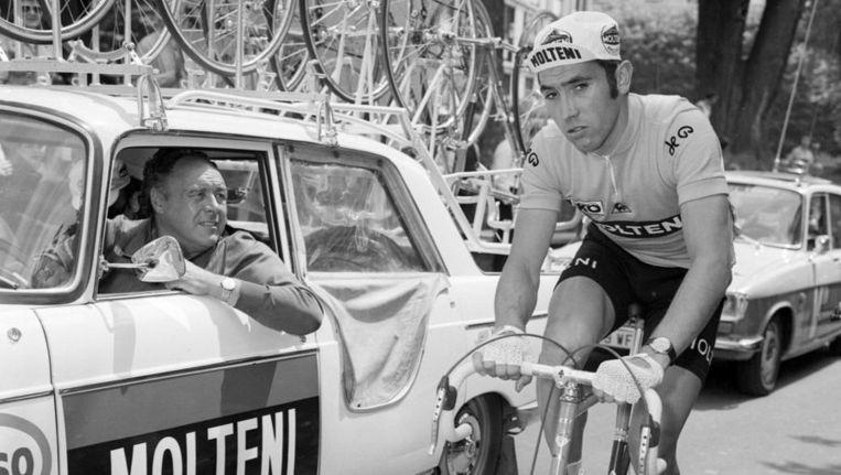 Eddy Merckx in de Tour van 1971. Beeld afp
