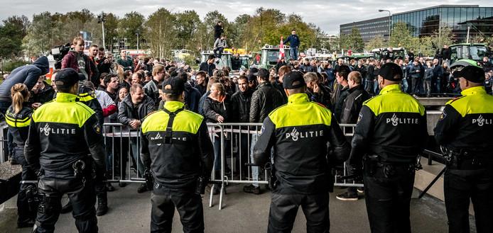 Soms was de sfeer gespannen, tijdens het vorige boerenprotest in Brabant.