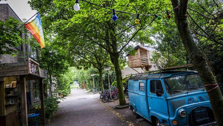 Bajesdorp, dat zich bevindt in de oude cipiersgebouwen van de Bijlmerbajes Beeld Rink Hof