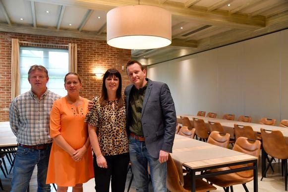 Met Patsy en Lesly en hun partners Nico Verwilghen en Liesbet Van Damme staat ondertussen de tweede generatie aan het roer van Hof ter Velden.