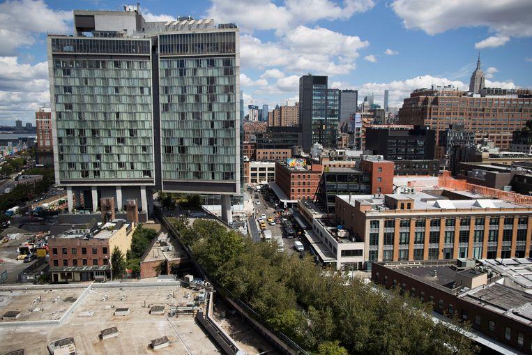 Inspiratie voor Rotterdam: een stukje van het High Line Park in New York. Beeld AP