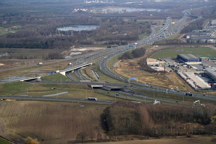 Knooppunt Batadorp bij Eindhoven. Archieffoto