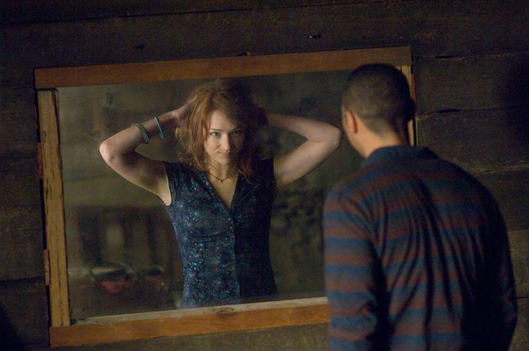Kristen Connolly en Jesse Williams in The Cabin in the Woods van Drew Goddard Beeld