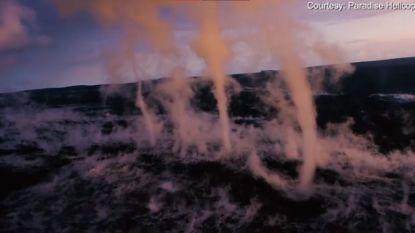 Wow! Windhozen boven vulkaan gefilmd