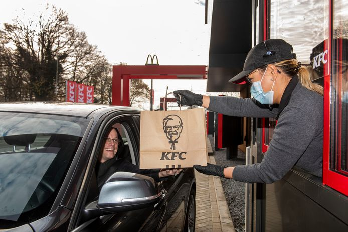 De KFC in Oosterhout draaide zaterdag al proef met vrienden en familie van de medewerkers.