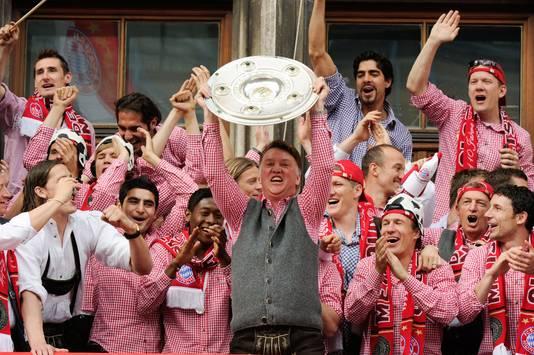 Louis van Gaal in 2010 als kampioenenmaker van Bayern München.