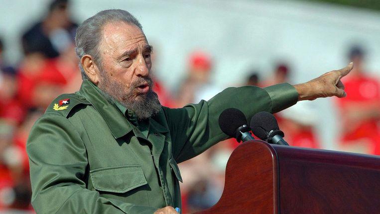 Fidel Castro in 2006. Beeld anp