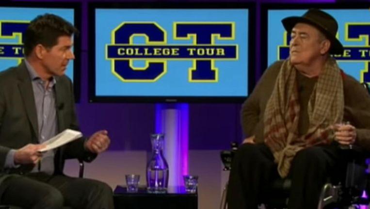 Regisseur Bernardo Bertolucci te gast bij College Tour Beeld Screenshot YouTube