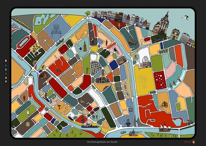 Michel Linthorst maakt als kunstproject plattegronden, met markante gebouwen letterlijk op de horizon, en in de kaart details die in de omgeving zijn te zien.