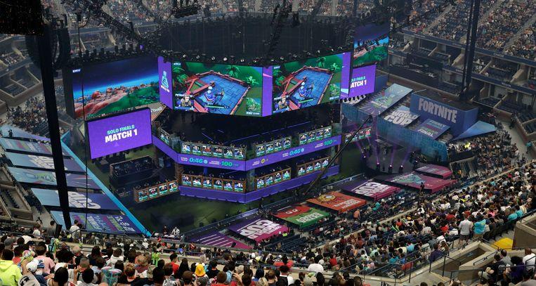 De solocompetitie van het wereldkampioenschap Fortnite 2019, in New York, geeft een idee van de immense populariteit van Fortnite. Beeld EPA